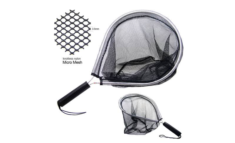 SAMS Aluminum Landing Nets Catch and Release Net Fish Saver Nylon Mesh for Fly Trout Kayak Boating Fishin