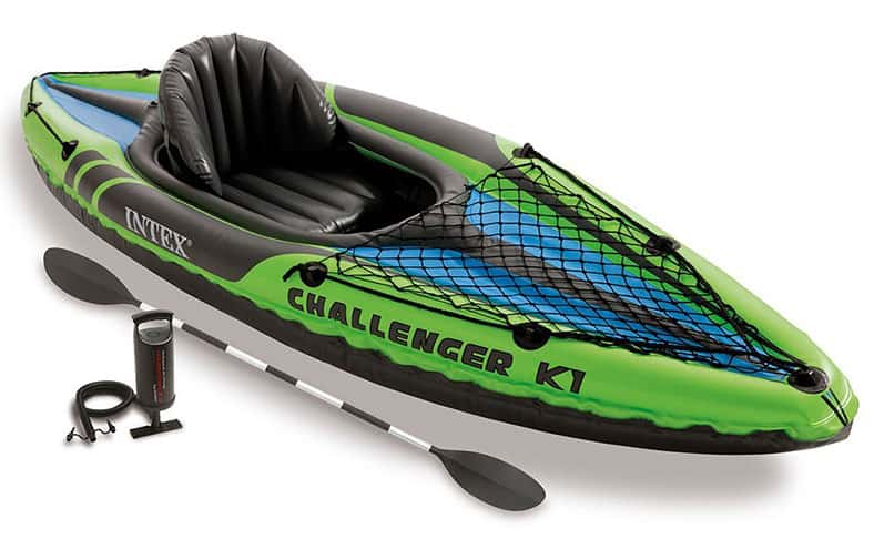 Intex-Challenger-K1-Kayak, 1-Person-Inflatable-Kayak-Set