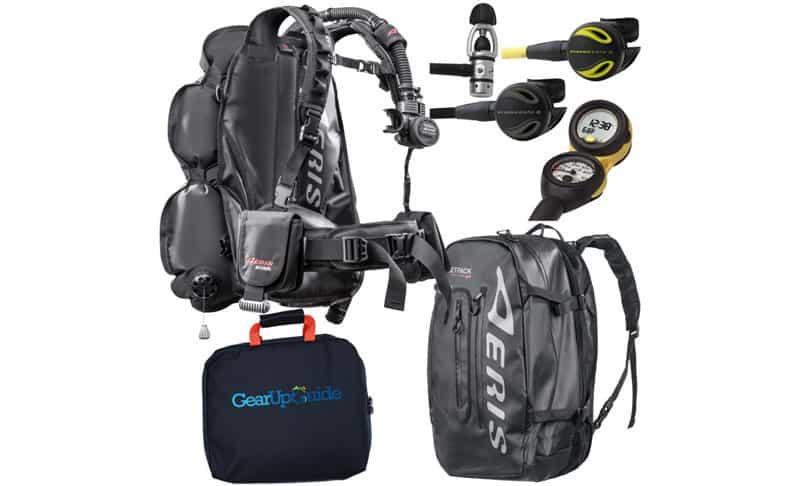 Oceanic Travel Scuba Package One Size Fits All JetPack BCD Dive Computer Reg Set Bundle 5-6