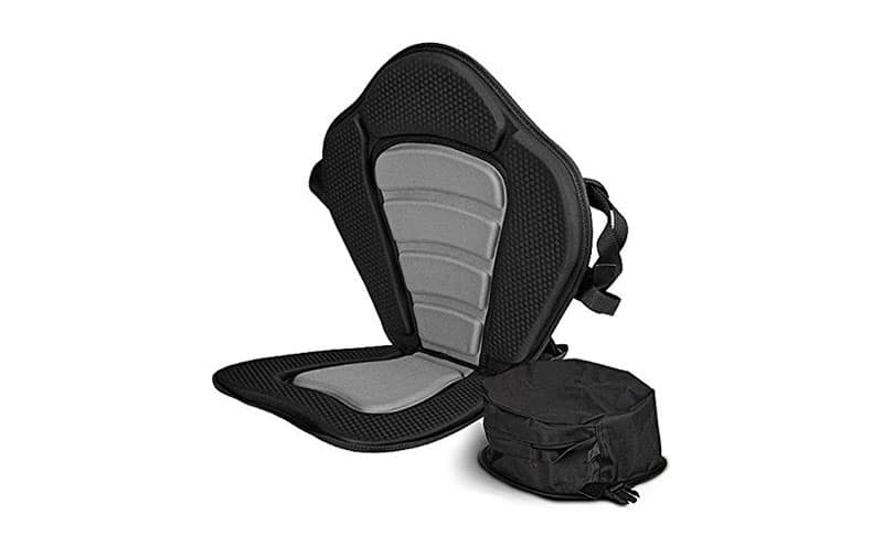 Sit-on-Top Deluxe Cushioned Kayak Seat With Back Pack Storage Pouch