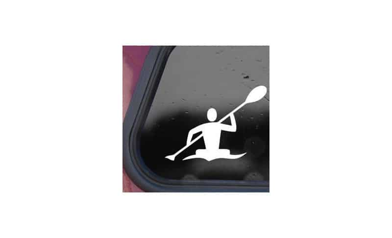 Supermomu LL200051 9.5x6x0.1-Inch Kayaker Paddle Canoe White Decal