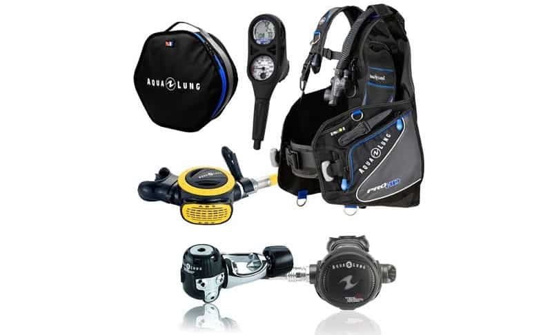 Aqua-Lung-Pro-HD-BCD-i300-Dive-Computer-Titan--ABS-Regulator-Set-Reg-Bag-Scuba-Diving-Gear-Package