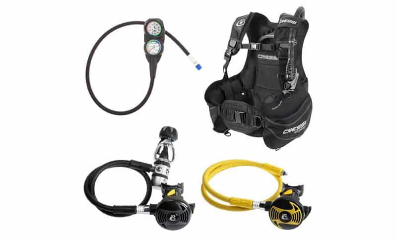 Cressi-Start-Pro-BCD-Compact-Reg-Gauge-Dive-Package