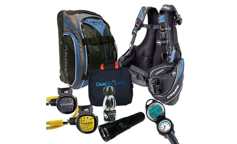 Cressi-Travelight-15-LBS-Scuba-Diving-Package-Carry-On-Reg-Dive-Computer-GupG-Reg-Bag-and-or-Kraken-Dive-Torch