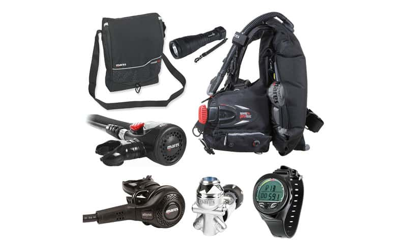 Mares-Abyss-42-Regulator-Scuba-Diving-Package-with-air-control-and-BC