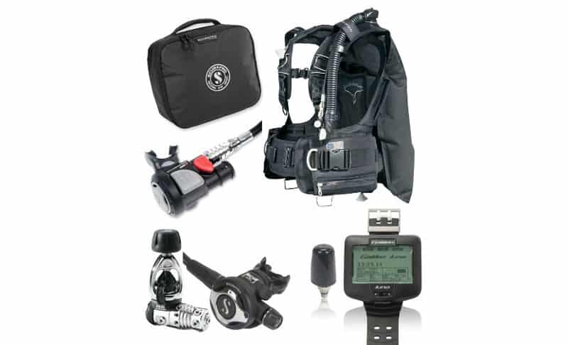 ScubaPro-KnightHawk-BC-Scuba-Regulator-Package