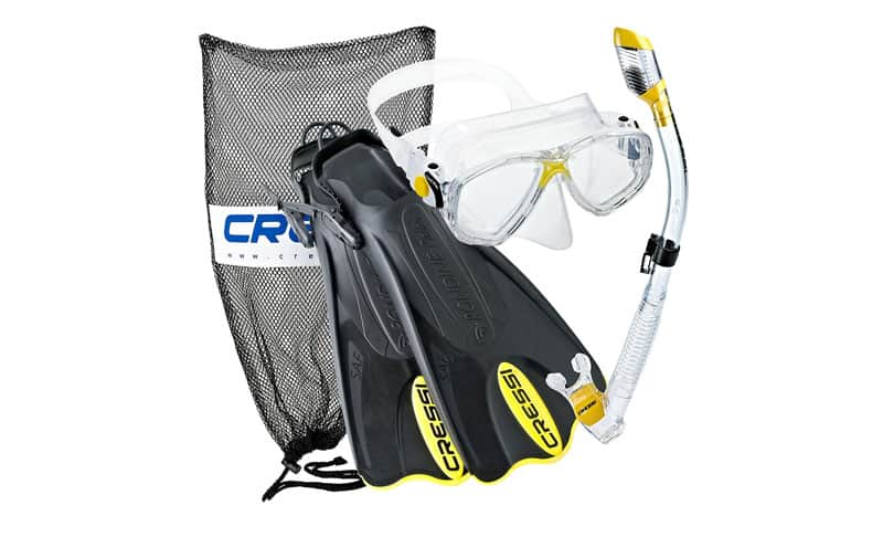 Cressi-Palau-Mask-Fin-Snorkel-Set-with-Snorkeling-Gear-Bag