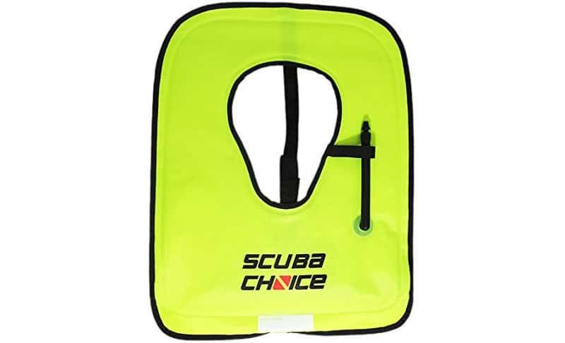 Scuba-Choice-Adult-Neon-Yellow-Snorkel-Vest