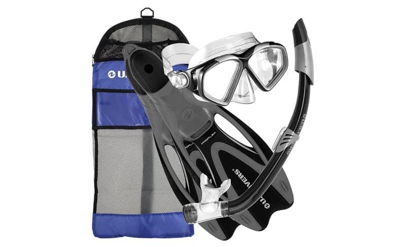 U-S-Divers-Adult-Cozumel-MaskSeabreeze-II-SnorkelProflex-Fins-Gearbag