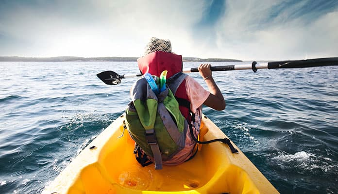 Kayakers-rely-on-the-reverse-stroke