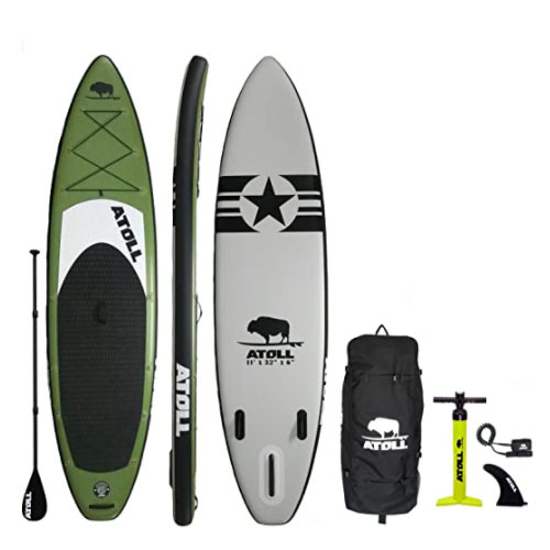 Atoll 11′ Cruiser Deluxe Inflatable Yoga Paddle Board