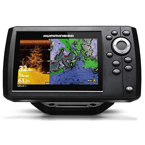 Humminbird 410220-1 Black Fishing Hook Kayak GPS