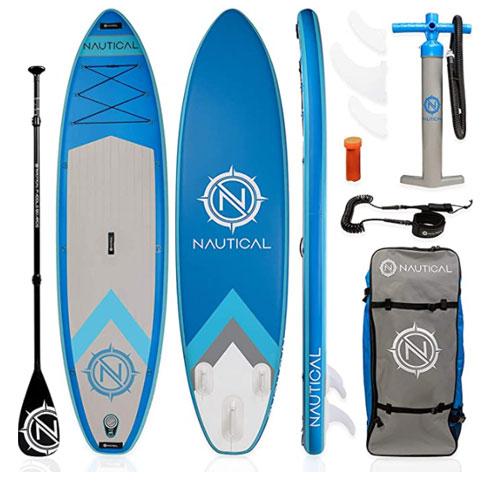 iROCKER Nautical Inflatable Yoga Paddle Board