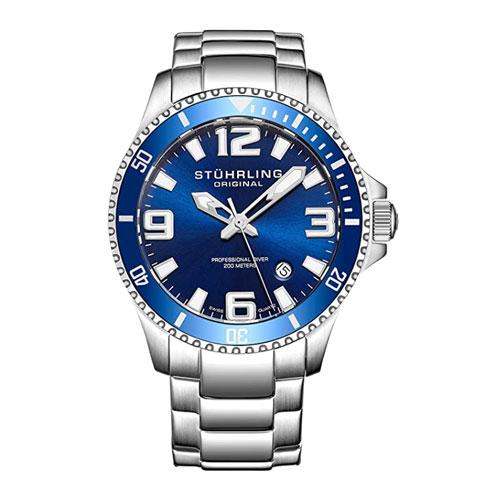 Stuhrling Original Aquadiver Regatta Analog Quartz Diving Watch