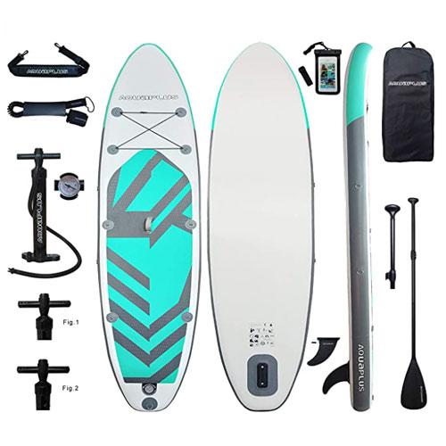 Aqua Plus 11ft Inflatable Yoga Paddle Board