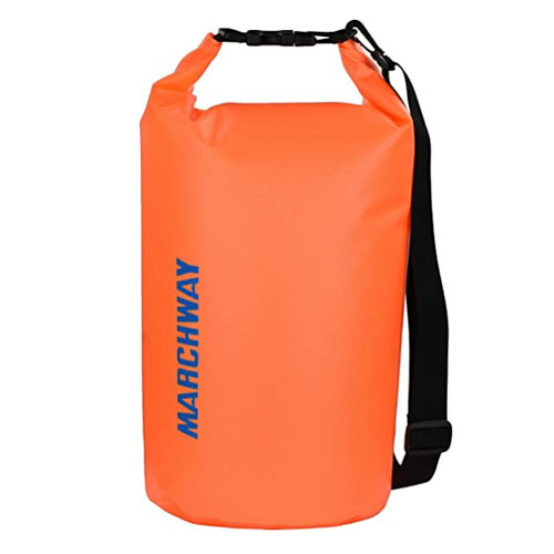 Hiking and Fishing with Waterproof Phone Case Rafting Waterproof Dry Bag Roll Top Dry Compression Sack 5L 12L Floating Bucket Bag Keep Gear Dry for Beach Boating Camping