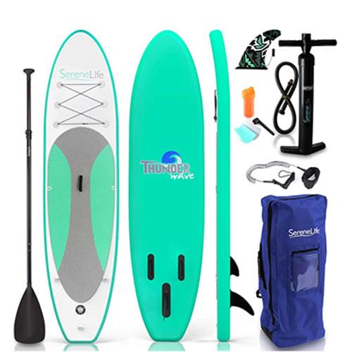 SereneLife ThunderWave Inflatable Paddle Board