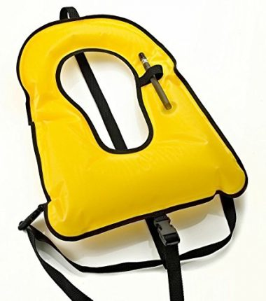 Phantom Aquatics Adult Yellow Snorkel Vest