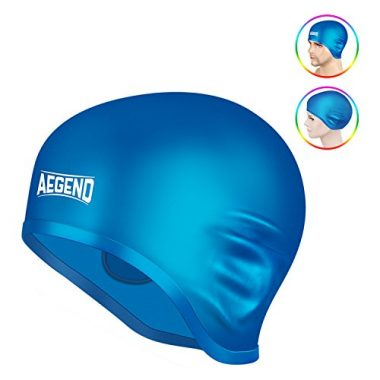 Coohole Swiming Cap Ergonomic Design Comfortable Silicone Fit Swim Caps Waterproof Ear Protector Swimming Cap for Adult Long Hair Women
