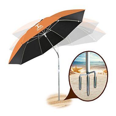 Portable Sun Shade Beach Umbrella by AosKe