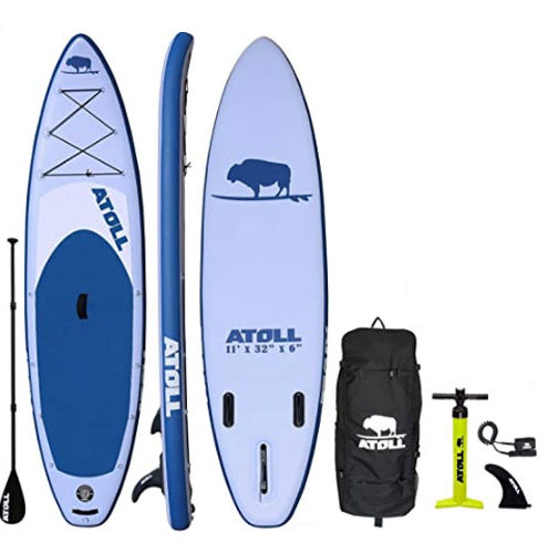 Atoll 11′ Foot Inflatable Fishing Paddle Board