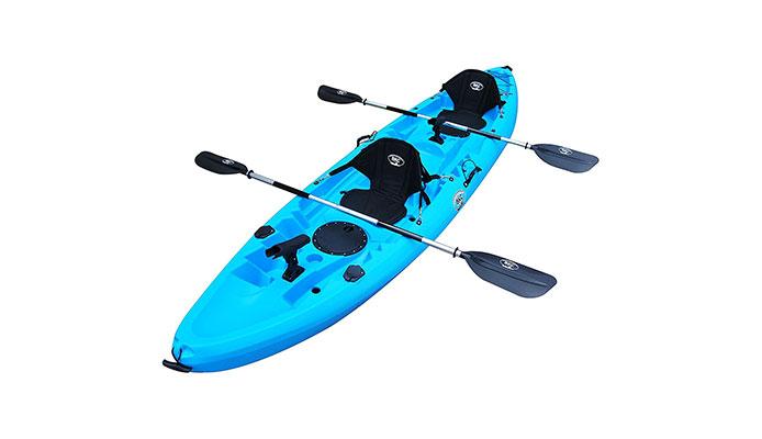 BKC TK219 12.2′ Fishing Tandem Kayak W/Soft Padded Seats
