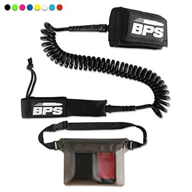 BPS Premium Storm SUP Leash Coiled