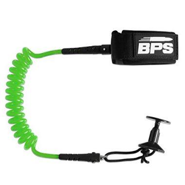 BPS STORM Coiled Pro Bodyboard Wrist Leash
