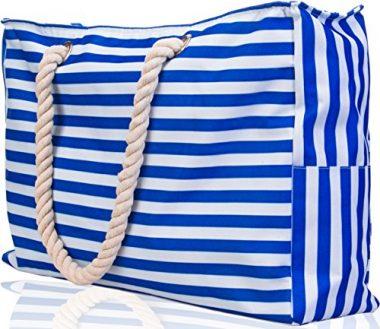 X-LARGE Shoulder Tote has Built-In Keyholder Beach Bag