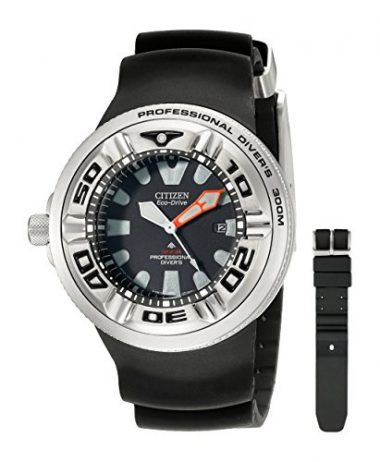 Citizen Men's Eco-Drive Professional Diver Black Sport Dive Watch