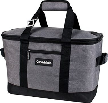 CleverMade SnapBasket Insulated Tote Bag Beach Cooler