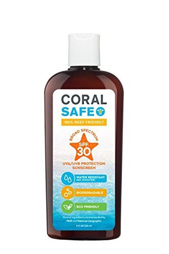 Coral Safe SPF 30 All Natural Biodegradable Reef Safe Sunscreen