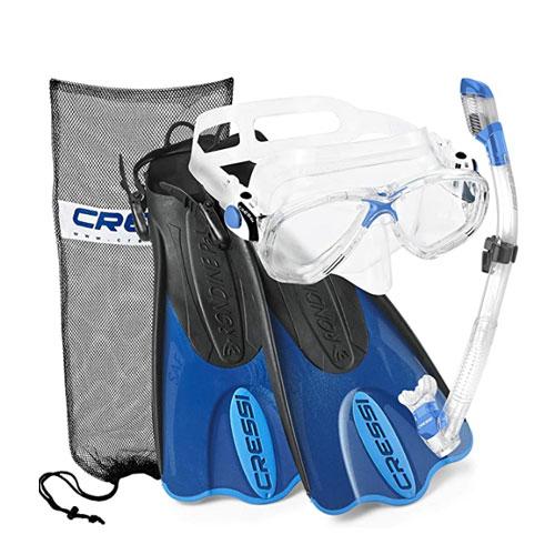 Cressi Palau Mask Fin Set Snorkel Gear