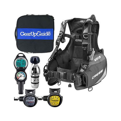 Cressi R1 BCD Leonardo Scuba Gear Package