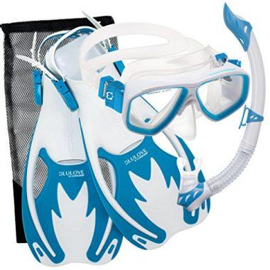 Rocks Kids Mask, Snorkel & Fins Snorkel Set by Cressi