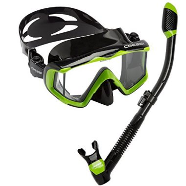 Cressi Panoramic Wide View Mask Dry Scuba Mask Set