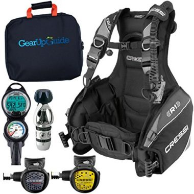 Cressi R1 BCD Leonardo Scuba Gear Diving Package