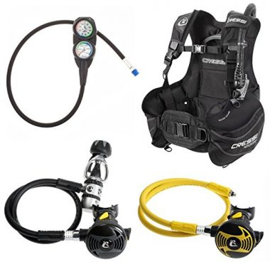 Cressi Start Pro BCD Compact Reg Gauge Scuba Dive Package