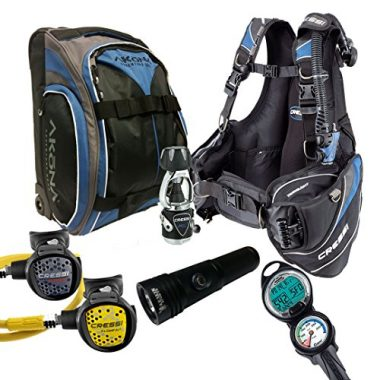 Cressi Travelight 15 LBS Scuba Diving Gear Package