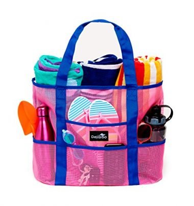 Dejaroo LLC Oversized Pockets Beach Bag
