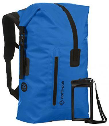 Earth Pak 35L/55L Heavy Duty Roll Top Waterproof Backpack