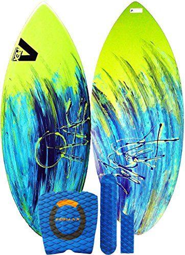 Fedmax Skimboard/Wakesurf Board, Fiberglass/Carbon Fiber Avac by Apex