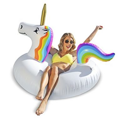 Unicorn Party Tube Inflatable Pool Float by GoFloats