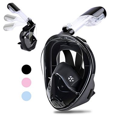 Greatever Foldable 180° Panoramic View Full Face Snorkel Mask
