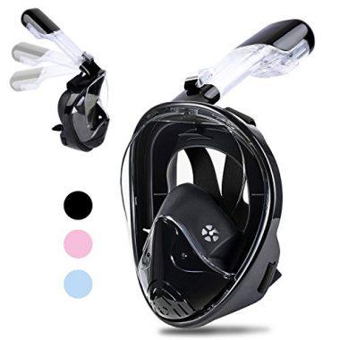 Greatever Foldable 180° Panoramic View Full Face Snorkel Mask