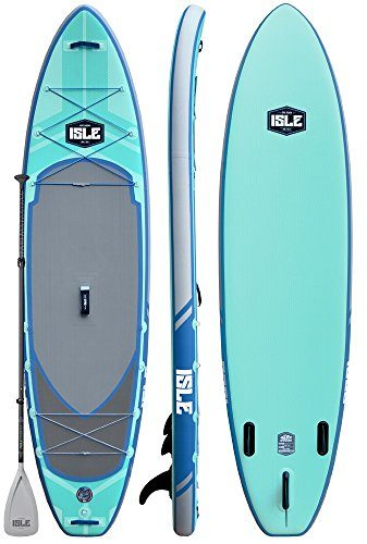 ISLE Airtech Inflatable Explorer Stand Up Paddle Board (6″ Thick) iSUP Package