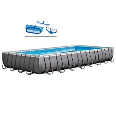 32ft X 16ft X 52in Rectangular Ultra Frame Pool Set By Intex