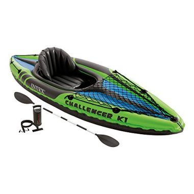 Intex Challenger K1 Kayak, 1-Person Inflatable Beginner Kayak Set