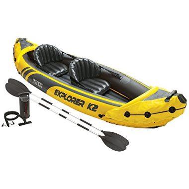 Intex Explorer K2 Kayak, 2 Person Inflatable Kayak For Beginner Set