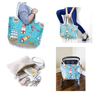Stroller Friendly Summer Beach Bag by JJMG
